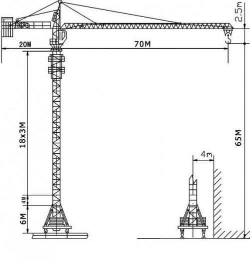 jl7032 jiang lu tower crane