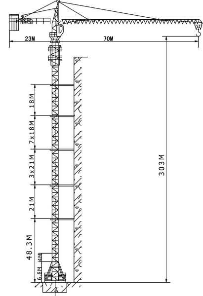jl7050 tower crane